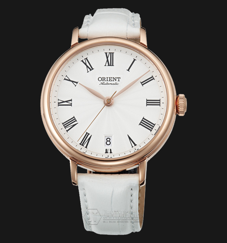 Orient Soma FER2K002W Automatic White dial White Leather Strap Machtwatch