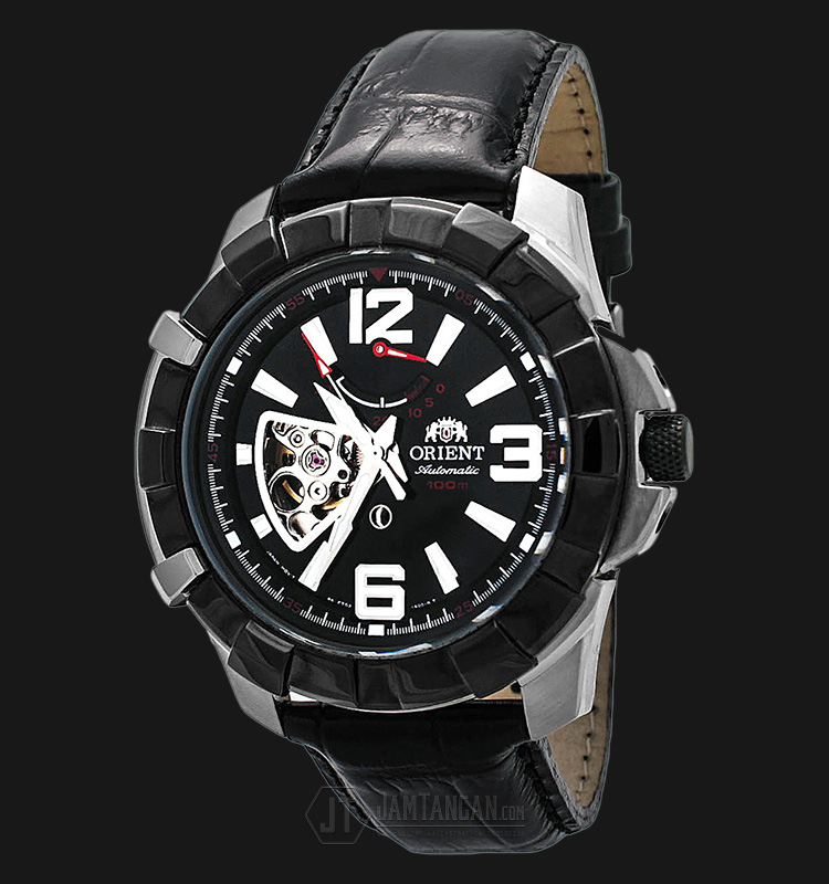 Orient FFT03004B The Guardian Open Heart Black Dial Black Leather Strap Machtwatch