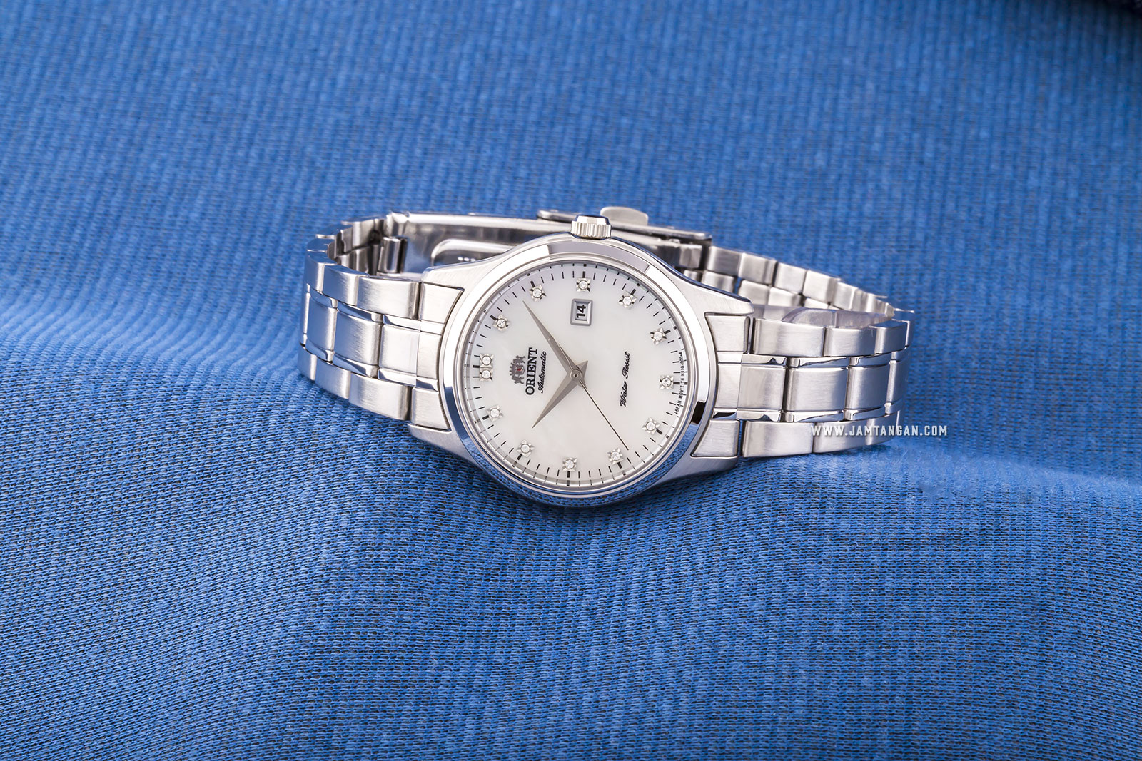 Orient FNR1Q004W Automatic Steel Dress Ladies White Mother of Pearl Dial Stainless Steel Machtwatch