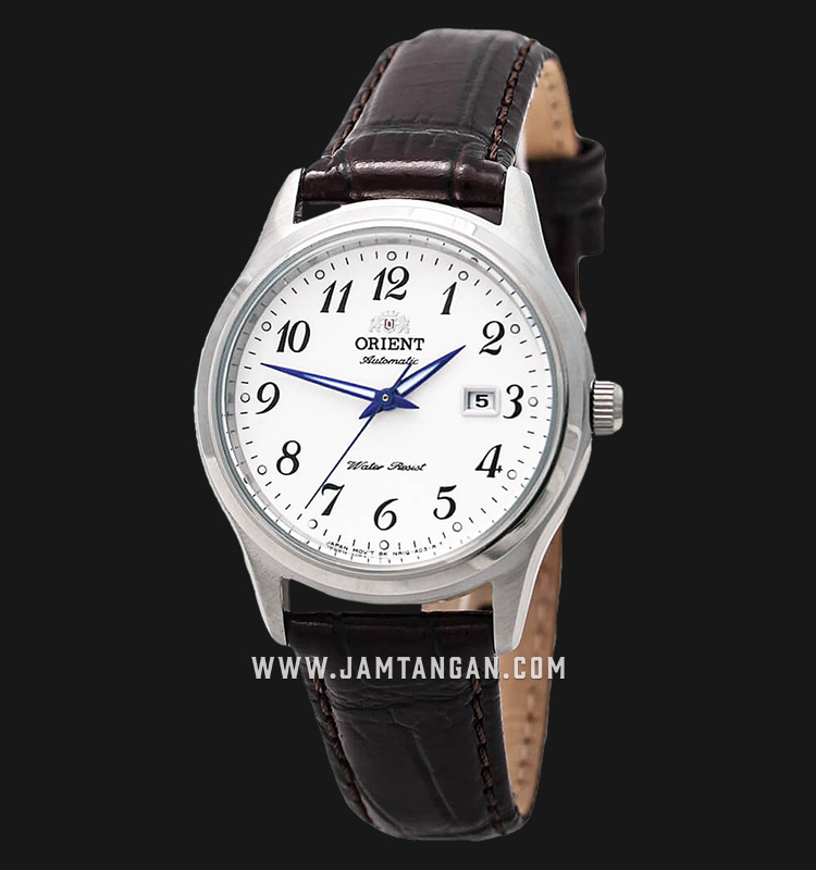 Orient FNR1Q00BW Automatic Ladies White Dial Brown Leather Strap Machtwatch
