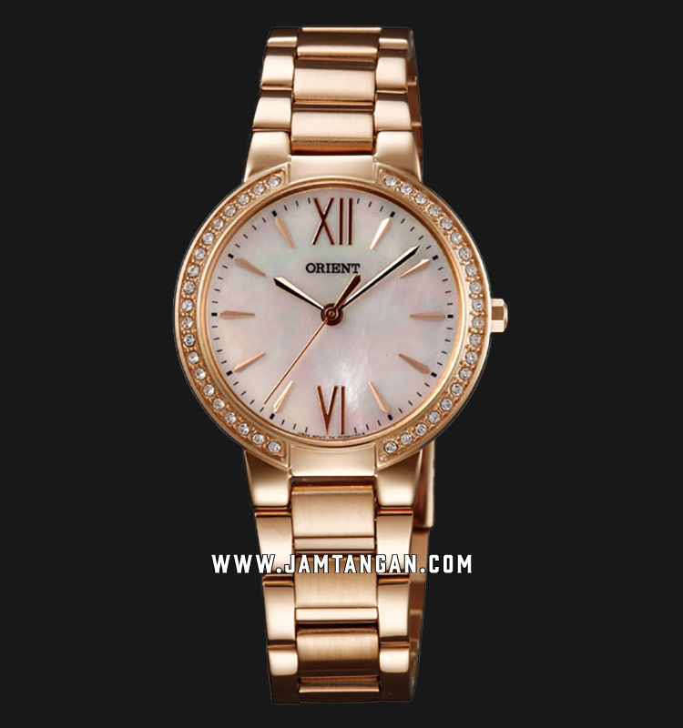 Orient FQC0M001W Ladies Mother of Pearl Dial Rose Gold Stainless Steel Strap Machtwatch