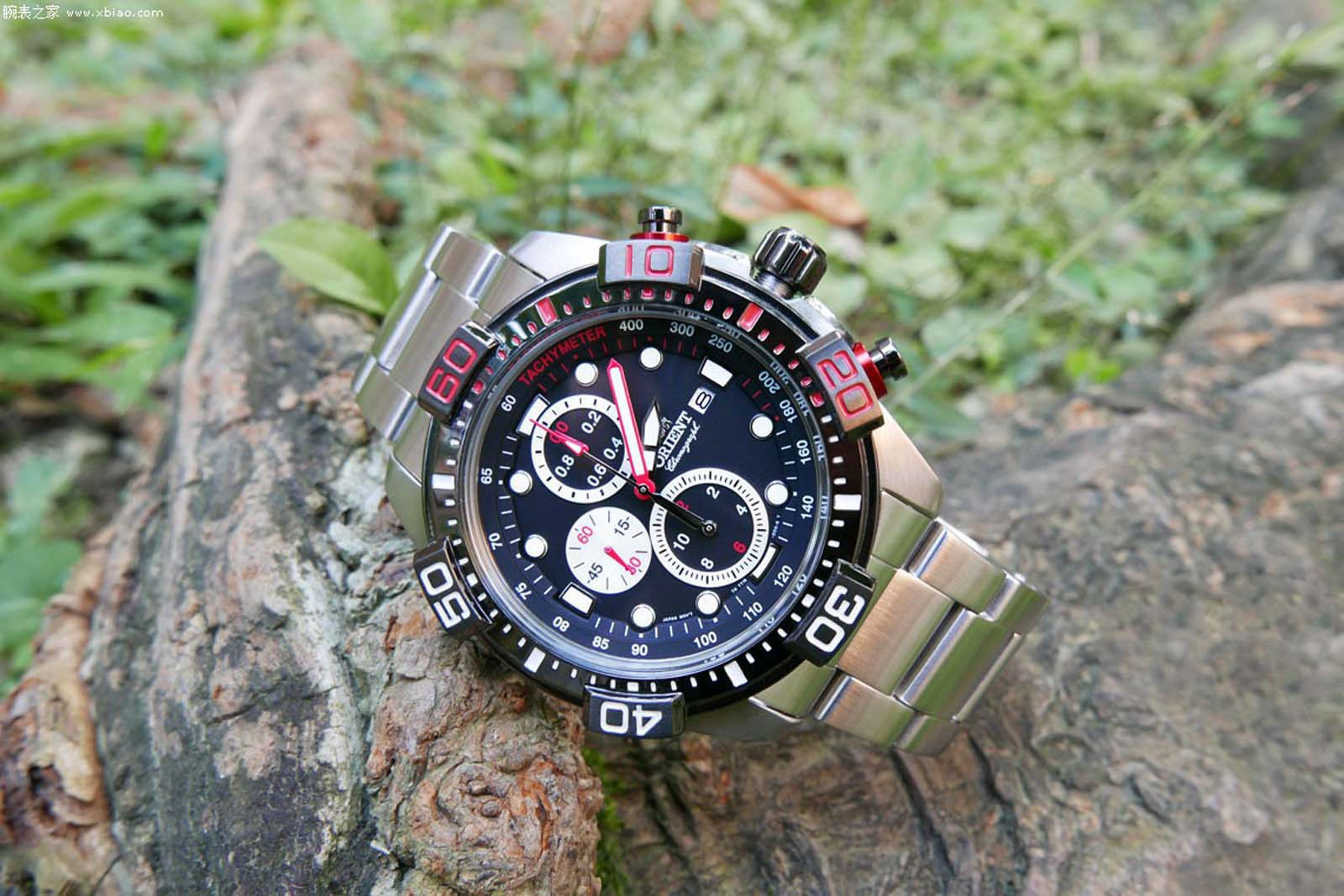 Orient FTT16002B Chronograph Black Dial Stainless Steel Machtwatch