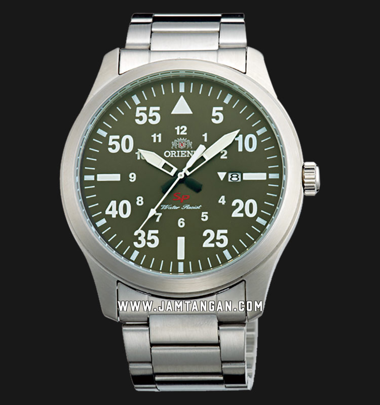 Orient FUNG2001F Military Quartz Green Dial Stainless Steel Strap Machtwatch