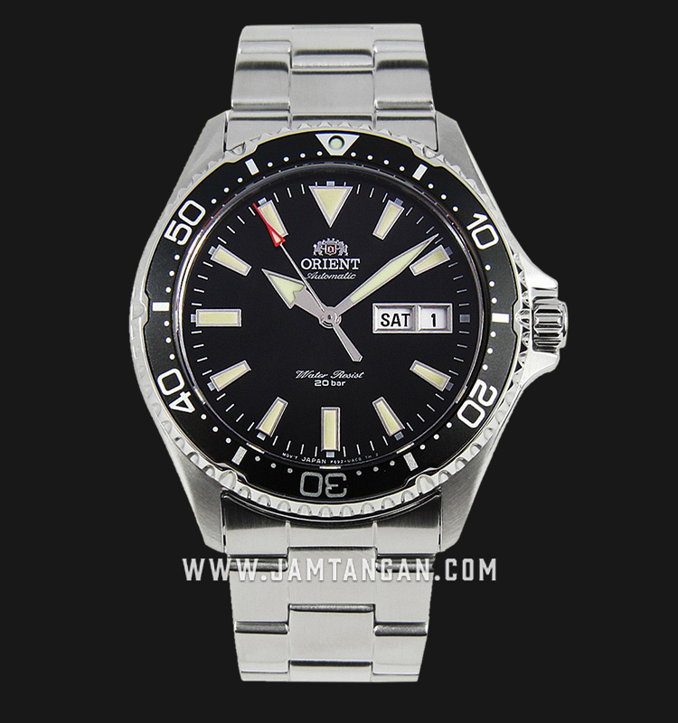 Orient RA-AA0001B Mako III Automatic Divers Black Dial Stainless Steel Machtwatch