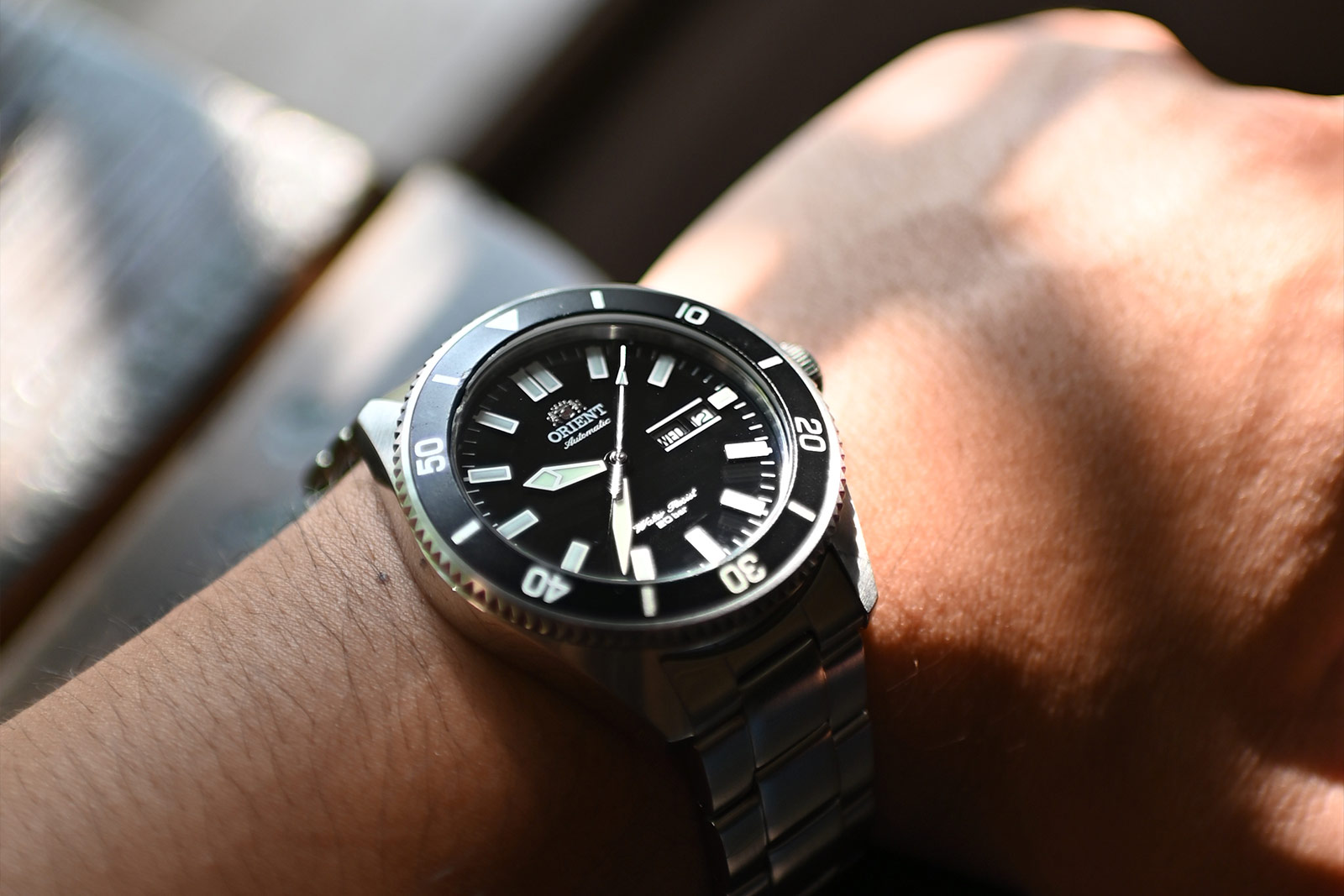 Orient RA-AA0008B Mako III Automatic Divers Black Dial Stainless Steel Machtwatch
