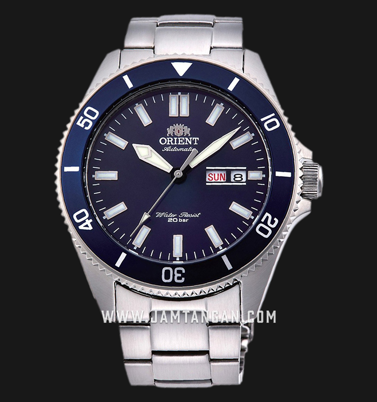 Orient RA-AA0009L Mako III Automatic Divers Blue Dial Stainless Steel Machtwatch
