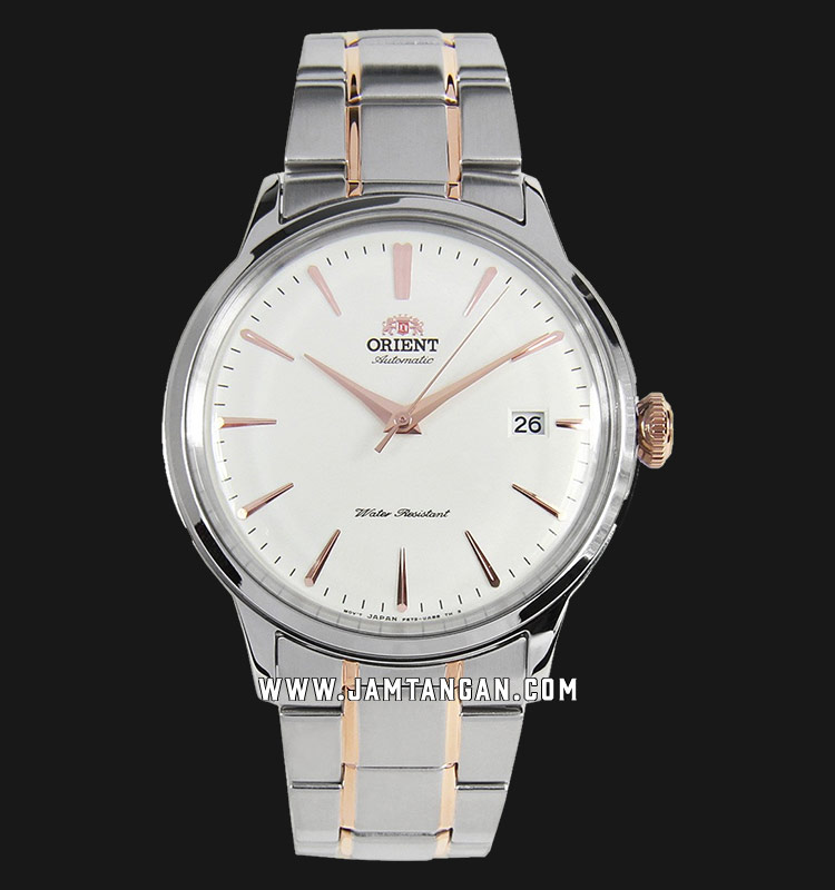 Orient Classic Bambino RA-AC0004S10B Automatic Men White Dial Dual Tone Stainless Steel Machtwatch