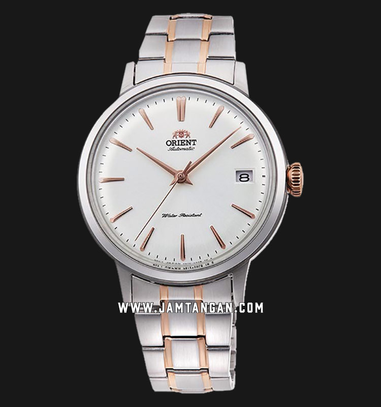 Orient Classic Bambino RA-AC0008S Automatic Ladies White Dial Dual Tone Stainless Steel Machtwatch