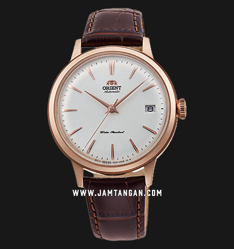 Orient Classic Bambino RA-AC0010S Automatic Ladies White Dial Brown Leather Strap Machtwatch