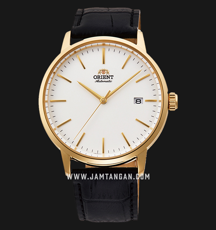 Orient Classic RA-AC0E03S Automatic Men White Dial Black Leather Strap Machtwatch