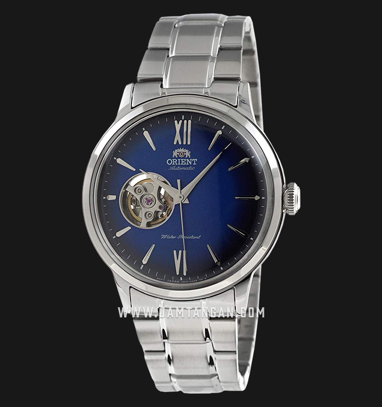 Orient Classic Bambino Open Heart RA-AG0028L Automatic Men Blue Dial Stainless Steel Machtwatch
