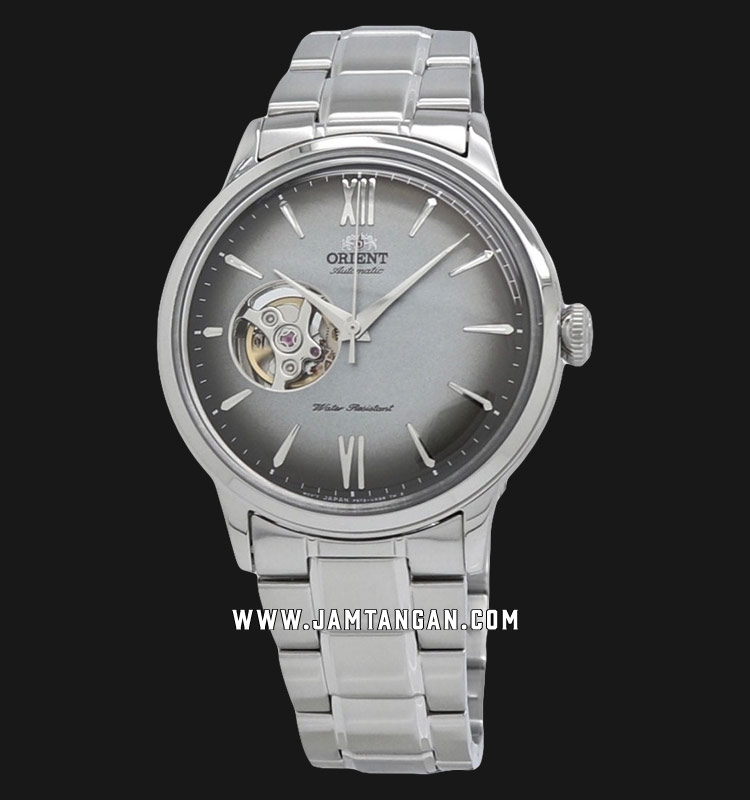 Orient Helios RA-AG0029N Automatic Men Open Heart Gray Dial Stainless Steel Strap Machtwatch