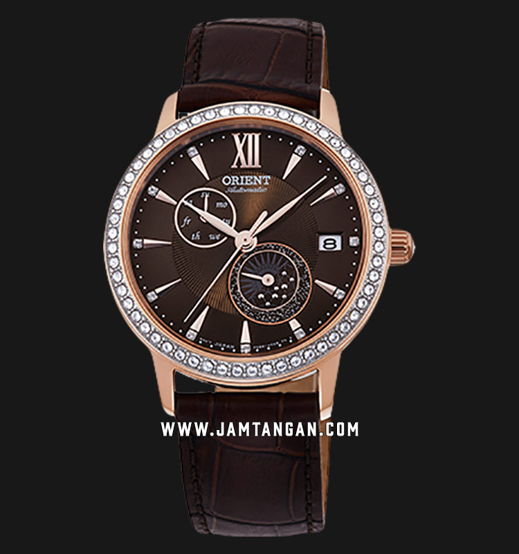 Orient RA-AK0005Y Automatic Ladies Brown Dial Brown Leather Strap Machtwatch