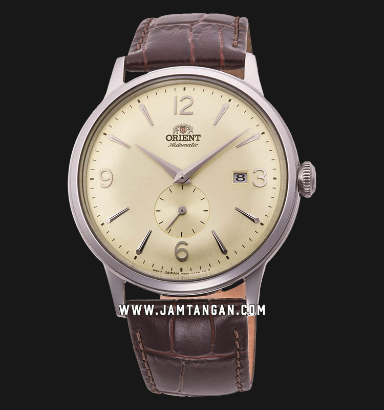 Orient Classic Automatic RA-AP0003S Men Champagne Dial Brown Leather Strap Machtwatch