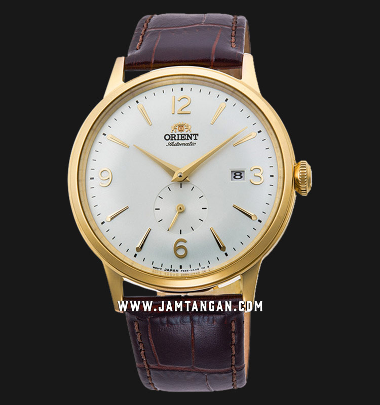 Orient Classic Automatic RA-AP0004S Men White Dial Brown Leather Strap Machtwatch