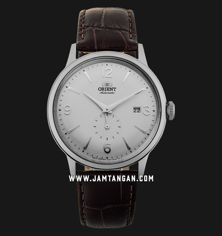 Orient RA-AP0002S Automatic Classic Open Heart Man White Dial Brown Leather Strap Machtwatch