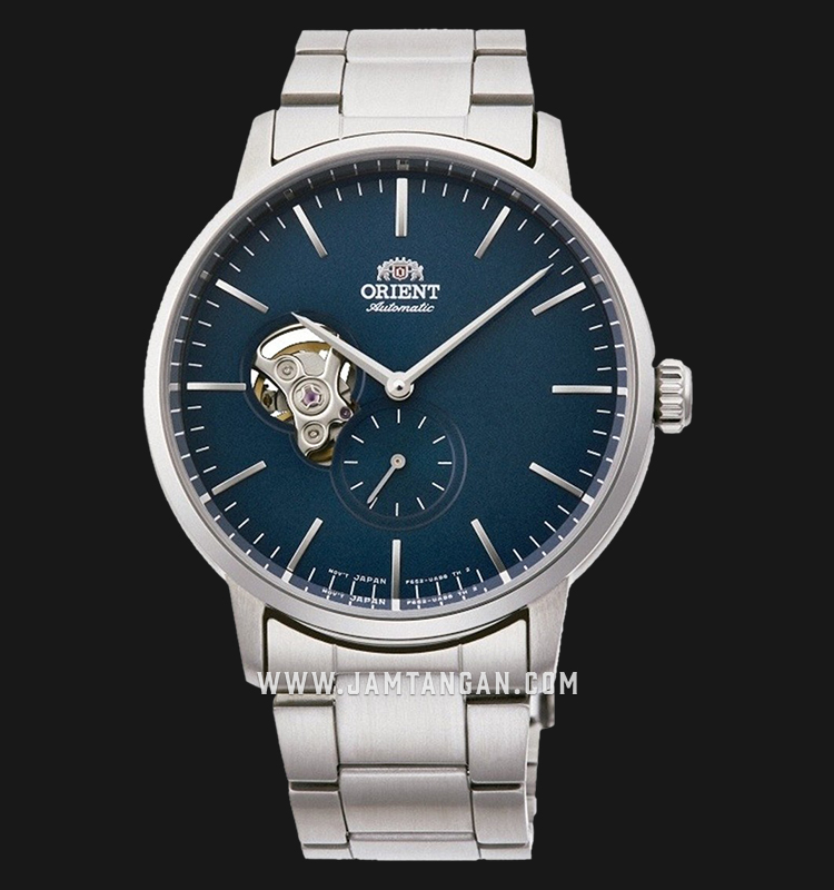 Orient Classic RA-AR0101L Open Heart Automatic Men Blue Dial Stainless Steel Strap Machtwatch
