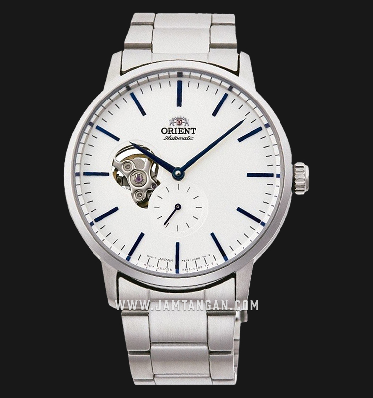Orient Classic RA-AR0102S Open Heart Automatic Men White Dial Stainless Steel Strap Machtwatch