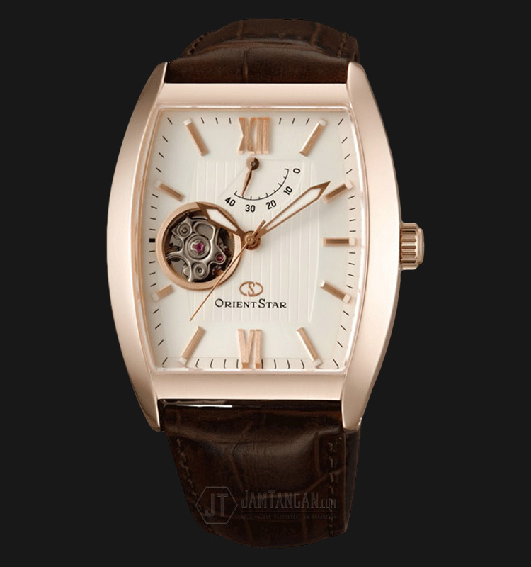 Orient Star SDAAA001W Automatic White dial Brown Leather Strap Machtwatch