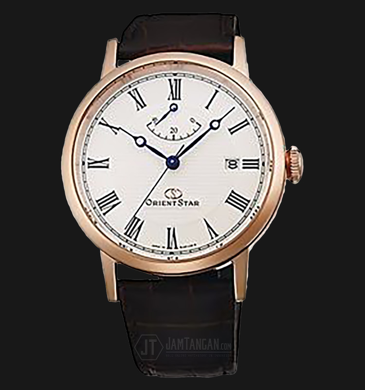 Orient Star SEL09001W Automatic White dial Brown Leather Strap Machtwatch