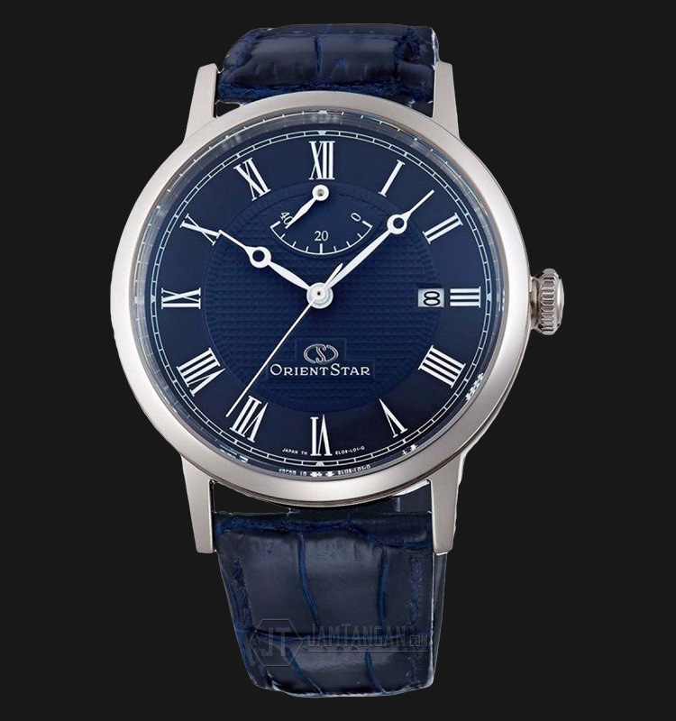 Orient Star SEL09003D Automatic Blue dial Blue Leather Strap Machtwatch