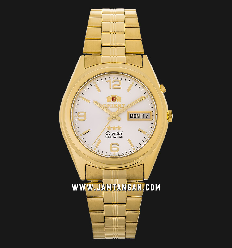 Orient Classic 3 Stars Crystal SEM6Q00BW Automatic Men Silver Dial Gold Stainless Steel Machtwatch