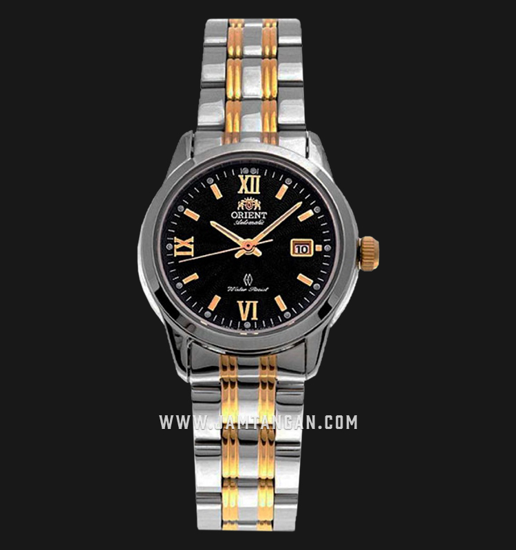 Orient SNR1L001B Automatic Ladies Black Dial Dual Tone Stainless Steel Strap Machtwatch