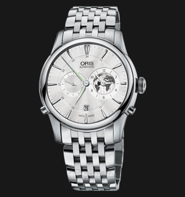 Oris Greenwich Mean Time Limited Edition 690 7690 4081 SET MB Stainless Steel Strap Machtwatch
