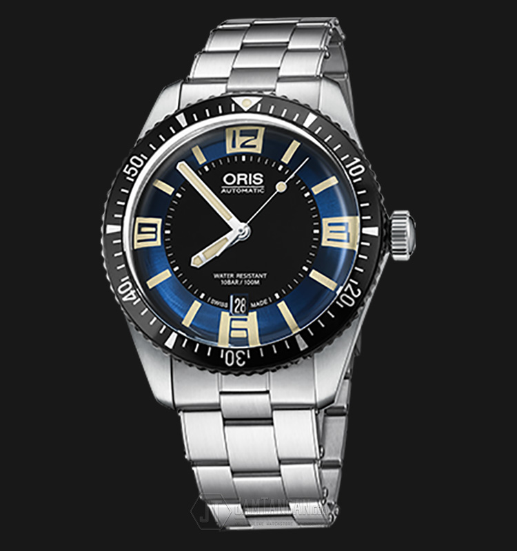 Oris Divers Sixty Five 733 7707 4064 SET MB Stainless Steel Strap Machtwatch