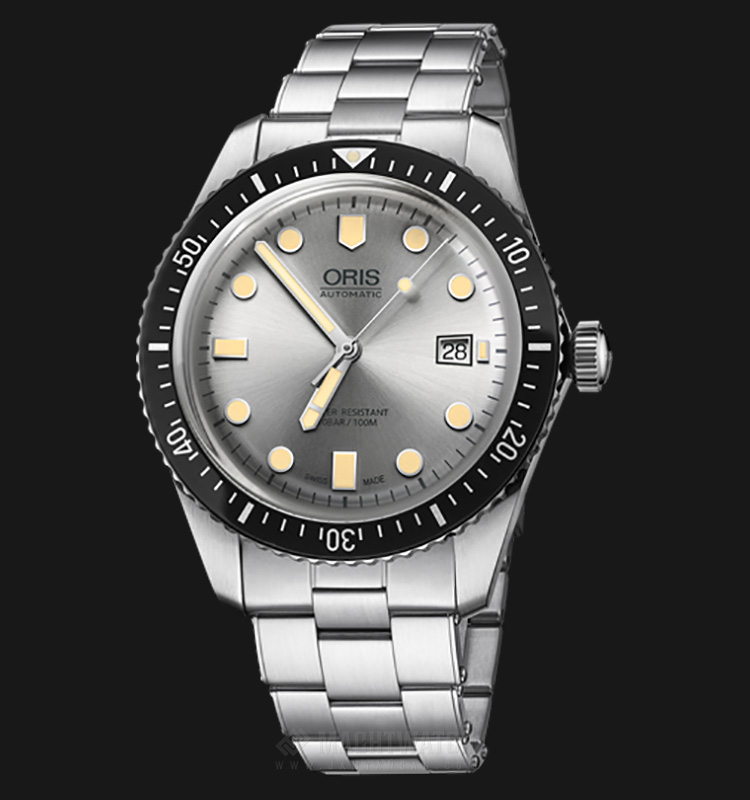 Oris Divers Sixty-Five Automatic 733 7720 4051 MB Silver Dial Stainless Steel Machtwatch