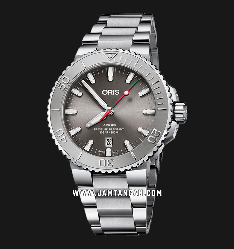 Oris Aquis Date Relief 733 7730 4153 MB Gray Dial Stainless Steel Machtwatch