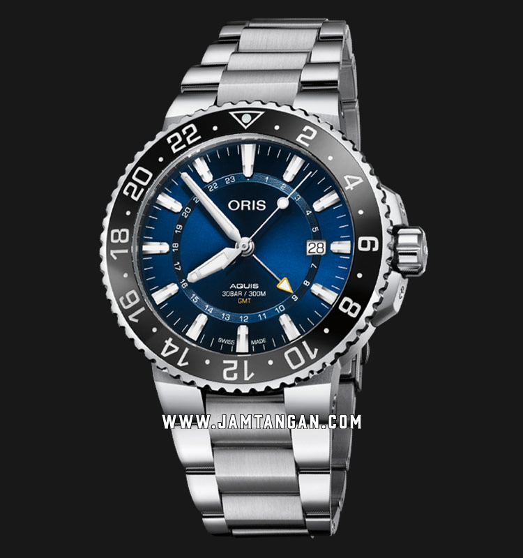 Oris Aquis GMT Date 798 7754 4135-07 8 24 05PEB Baselworld 2019 Stainless Steel Strap Machtwatch