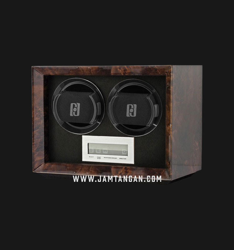 Paul Design Double Watch Winders PETITE 2 - Dark Burl Machtwatch