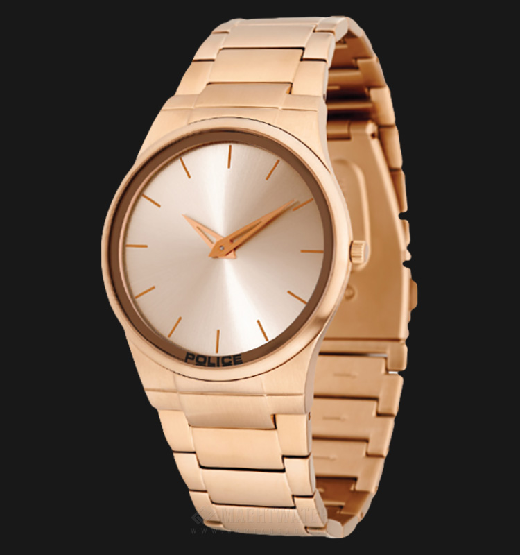 Police Horizon PL.12744JRSR/32M Rose Gold Dial Ion Plating Case Rose Gold Stainless Steel Strap Machtwatch