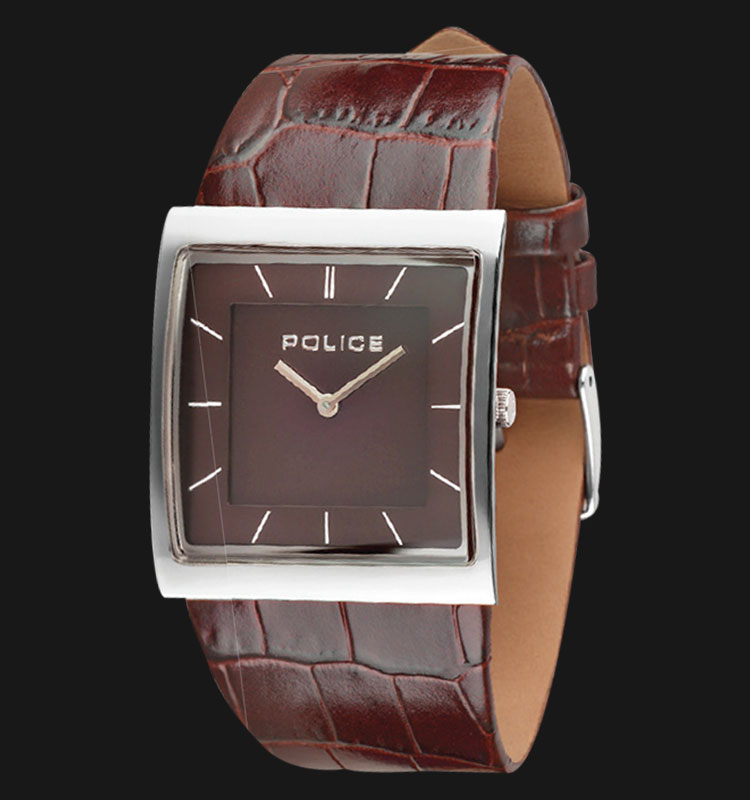 Police Skyline PL.13678BS/12 Black Dial Brown Leather Strap Machtwatch