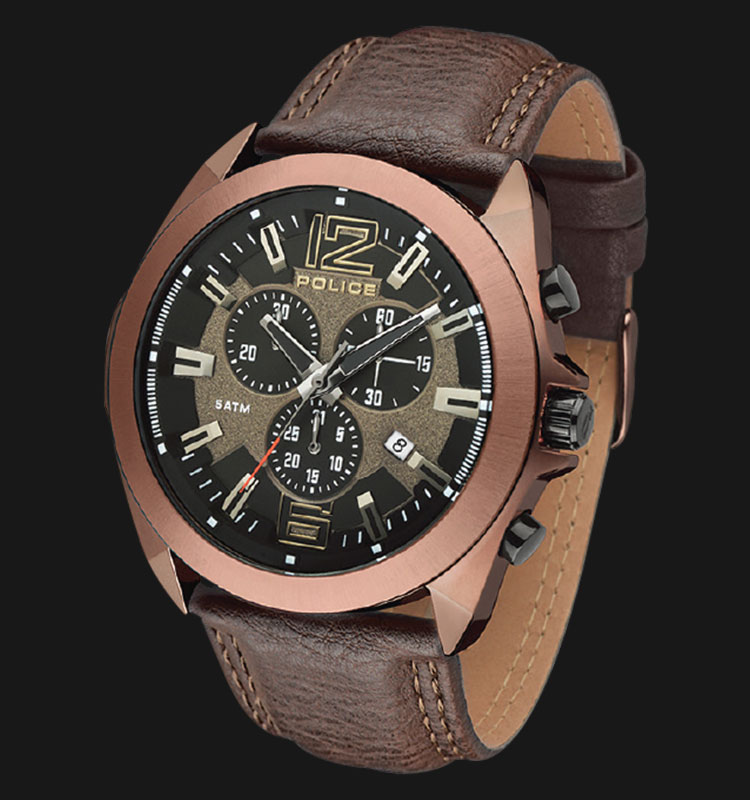 Police Ranger II PL.14104JSQBZ/13 Chronograph Brown Leather Machtwatch