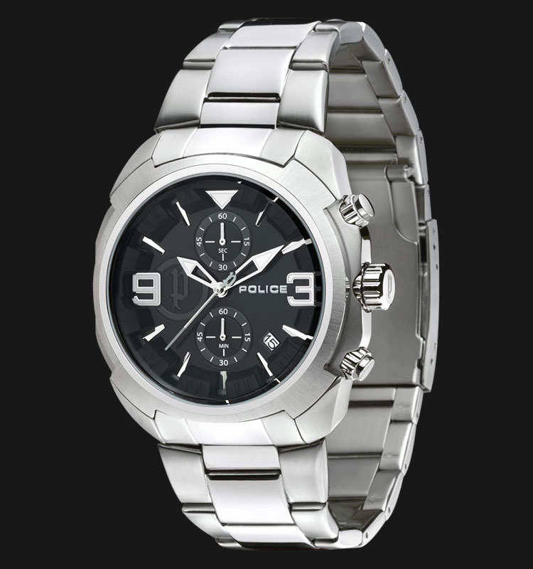 Police Gambit PL.14141JS/02M Chronograph Black Dial Stainless Steel Machtwatch