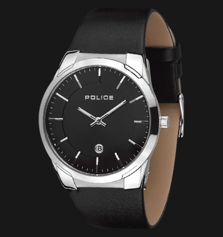 Police Target PL.14211JS/02 Classic Black Dial Black Leather Machtwatch