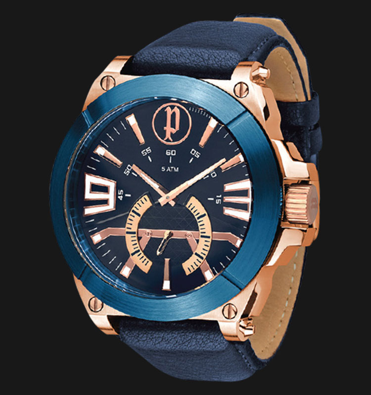 Police Nucleus PL.14421XSRBL/03 Blue Dial Blue Leather Strap Machtwatch