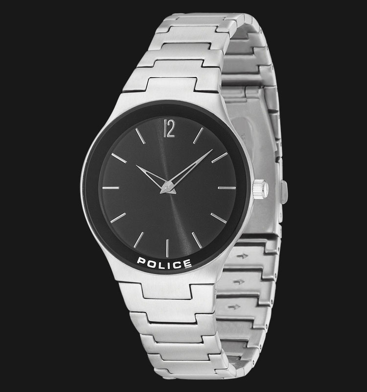 Police Downtown PL.14565MS/02M Black Dial Stainless Steel Bracelet Machtwatch