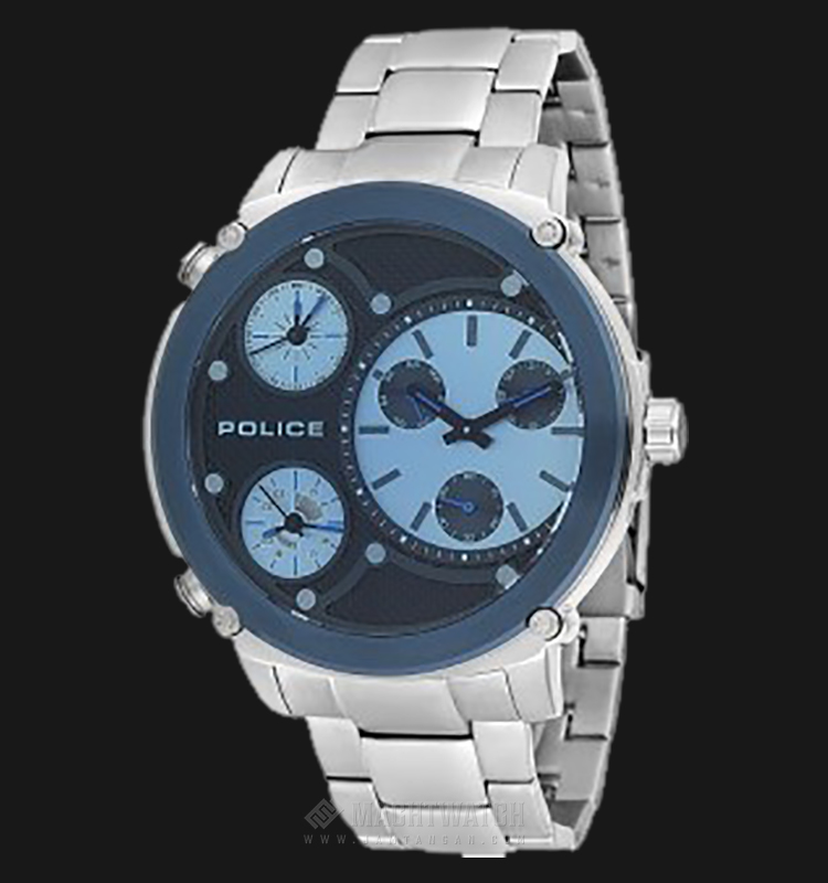 Police Titan PL.14830JSTBL/02M Black Dial Stainless Steel Case Stainless Steel Strap Machtwatch