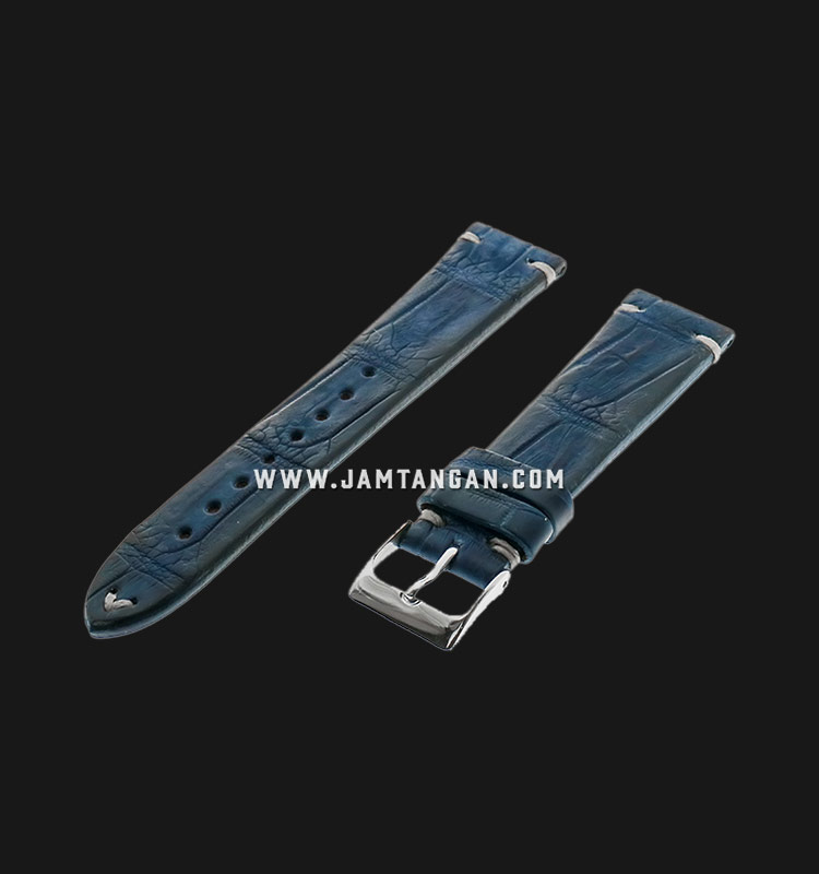 Strap Romeo Handmade in Italy 20mm Blue Leather Silver Buckle 112AH12-20X16 Machtwatch