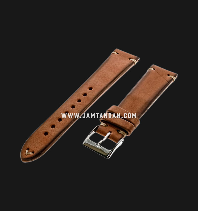 Strap Romeo Handmade in Italy 20mm Brown Leather Silver Buckle 112AI02-20X16 Machtwatch