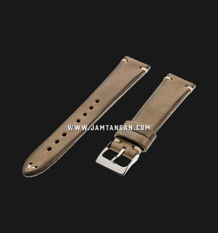 Strap Romeo Handmade in Italy 20mm Brown Leather Silver Buckle 112AI20-20X16 Machtwatch