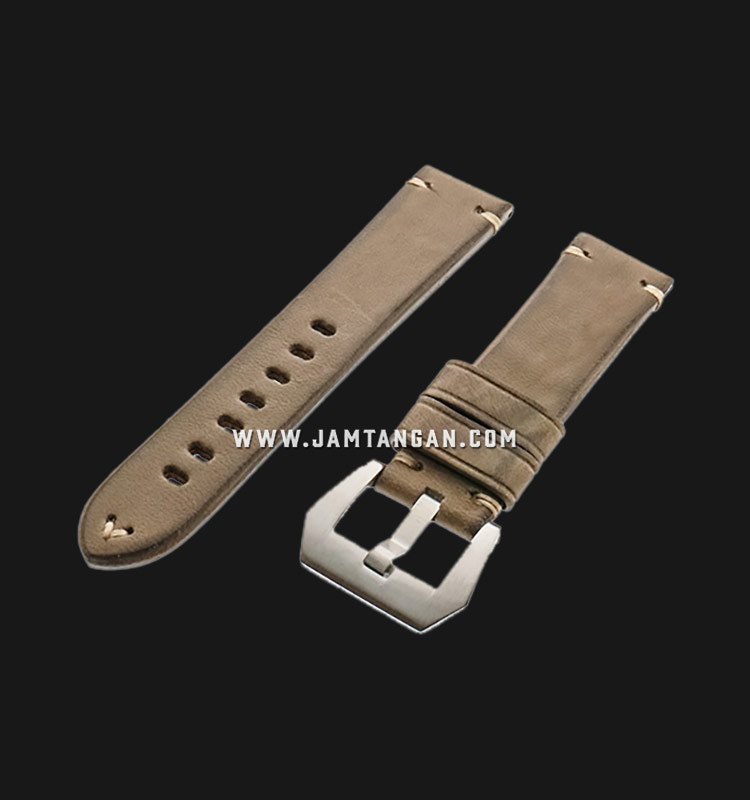 Strap Romeo Handmade in Italy 22mm Brown Leather Silver Buckle 112AI20-22X20 Machtwatch