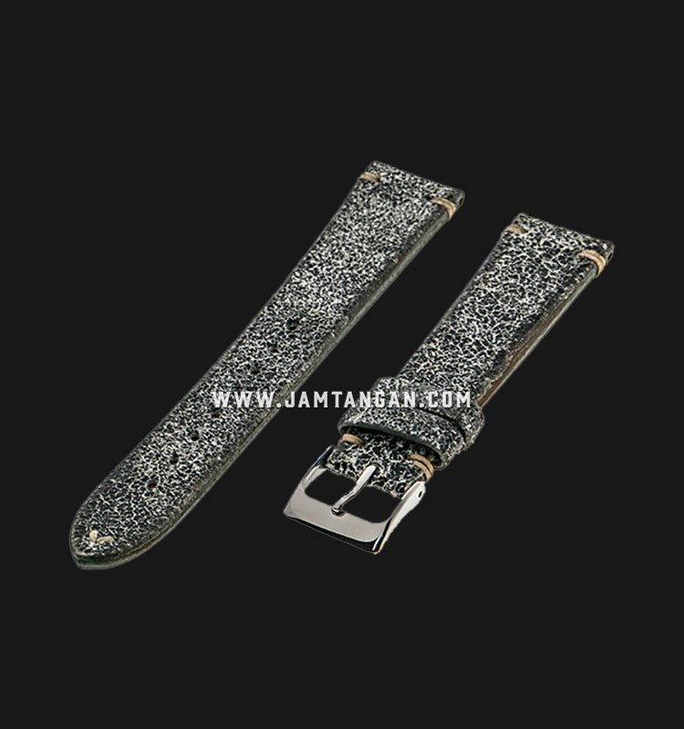 Strap Romeo Handmade in Italy 20mm Silver Leather Silver Buckle 112AK17-20X16 Machtwatch