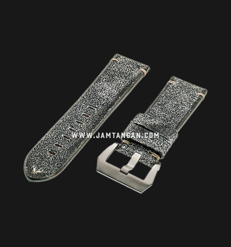 Strap Romeo Handmade in Italy 24mm Silver Leather Silver Buckle 112AK17-24X22 Machtwatch