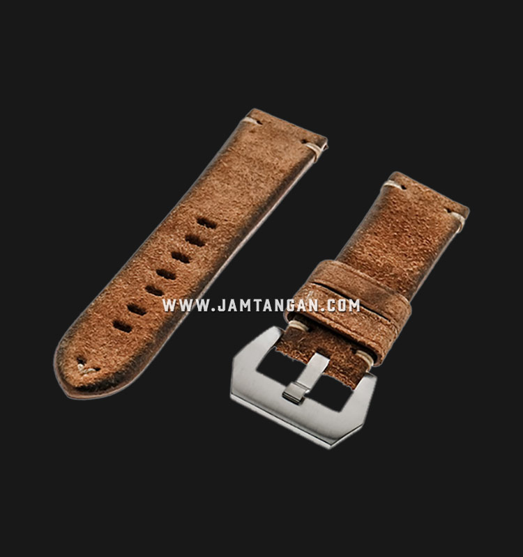 Strap Romeo Handmade in Italy 22mm Brown Leather Silver Buckle 112BD16-22X20 Machtwatch