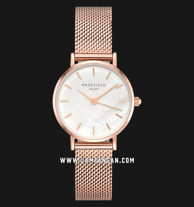 Rosefield 26WR-265 Ladies Mother of Pearl Dial Rose Gold Mesh Strap Machtwatch