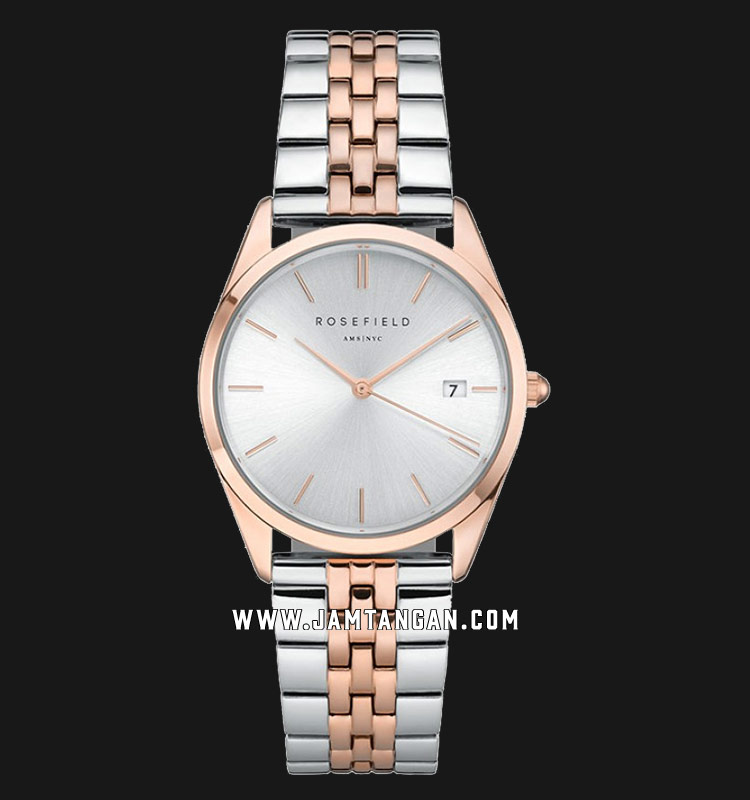 Rosefield ACSRD-A06 Ladies Silver Dial Dual Tone Stainless Steel Strap Machtwatch